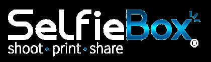 SelfieBox Photo booths Logo and Slogan